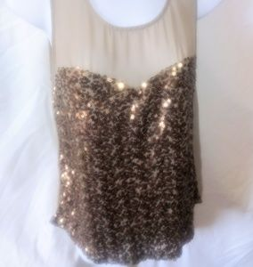 Kut...from the Kloth sheer sparkly tank top small